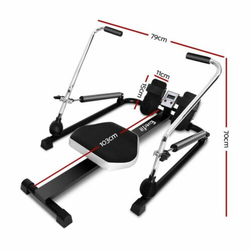 Adjustable Foldable Rowing Machine Cardio Fitness Rower Exercise Machine Quiet