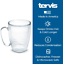 thumbnail 2 - Tervis 1099599 Clear  Colorful Mug Insulated Tumbler with Black Lid, 16 oz Trit