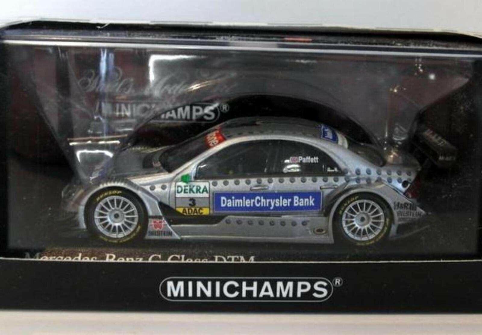 Wow extrêmement rare mercedes DTM 2005 C Classe Paffett Champion 1 43 Minichamps