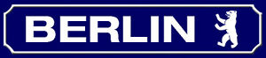 Berlin Road Sign Arched Metal Sign Metal Street Sign 10 X 46 CM SM0979