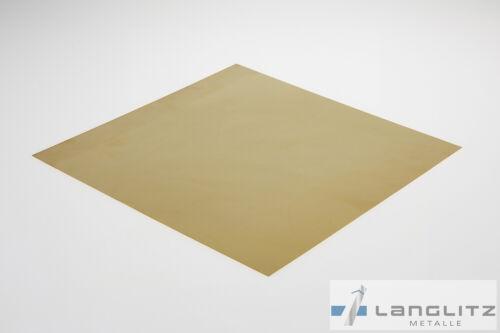 221,30€// M Plaque de Laiton 1 mm Tôle Tableau Noir CuZn37 MS63 en