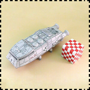 1-120-Scale-Battlestar-Galactica-Colonial-Shuttle-DIY-Handcraft-Paper-Model-Kit