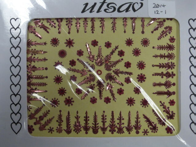 Good Quality Indian Bindi - Red Coloured - Value Pack (2014 12) CLEARANCE
