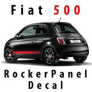 Fiat 500 Rocker Panel Decal Custom Vinyl Side Racing