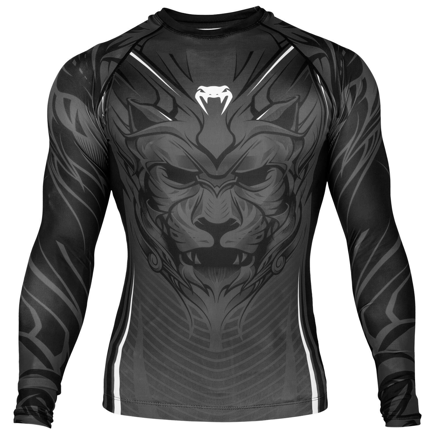 VENUM BLOODY ROAR RASHGUARD COMPRESSION SHIRT - LONG SLEEVES - GREY