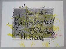 Felix Droese, Haus der Waffenlosigkeit, Siebdruck, 1988, handsigniert