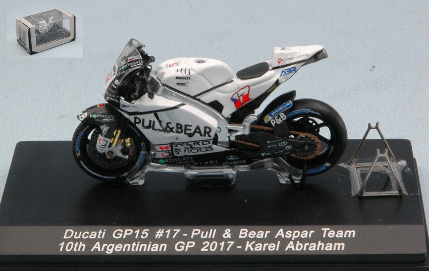 Ducati Gp15 Karel Abraham 2017 th silverina Gp Moto 1 43 Model M43022A