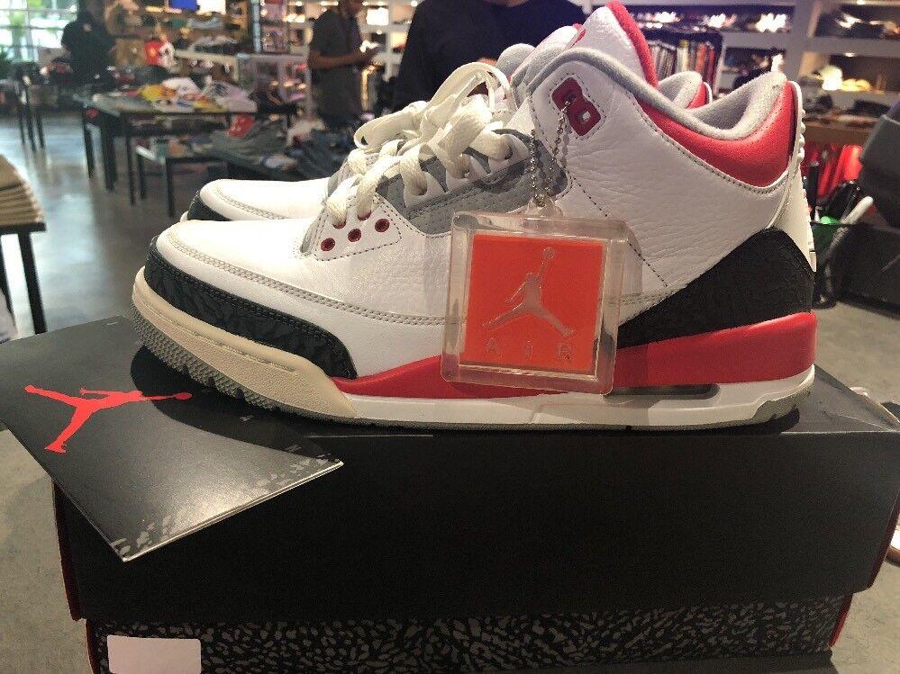 Air Jordan 3 Retro 'Fire Red' 2018 Size 10 Authentic