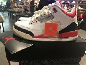 2256ac63a732 Air Jordan 3 Retro  Fire Red  2013 Size 10 Authentic