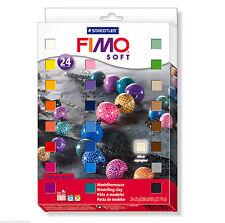 FIMO Soft Polymer Modelling Clay 24 x 25g Blocks Starter Set Fun for Kids