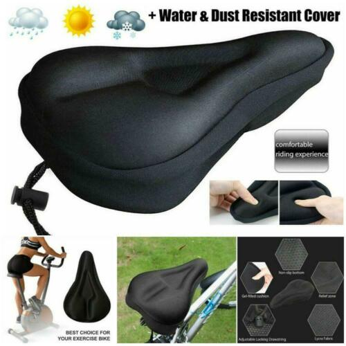 Soft Saddle Pad Cushion Cover Gel Silicone Seat for Mountain Bike Bicycle New.