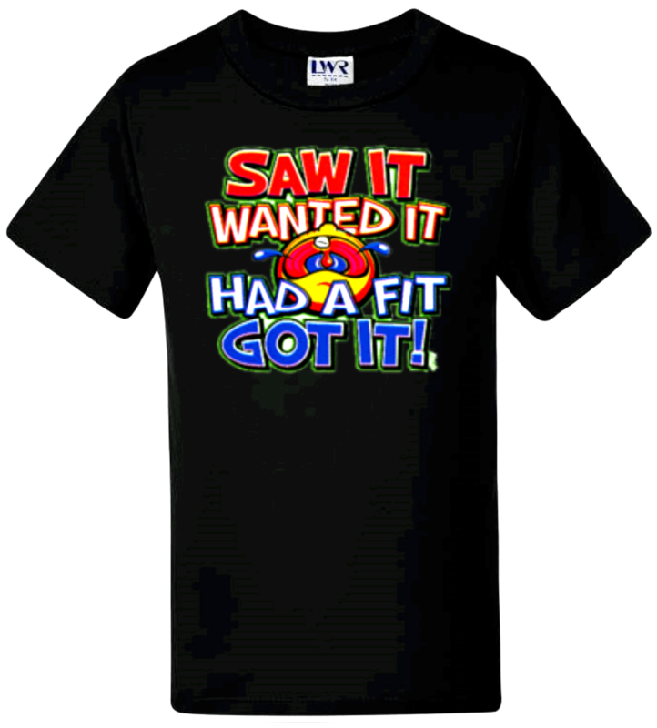 Kids T-shirts Funny T-shirt Girls Boys Novelty Tees Saw It Wanted It Sizes 0-12