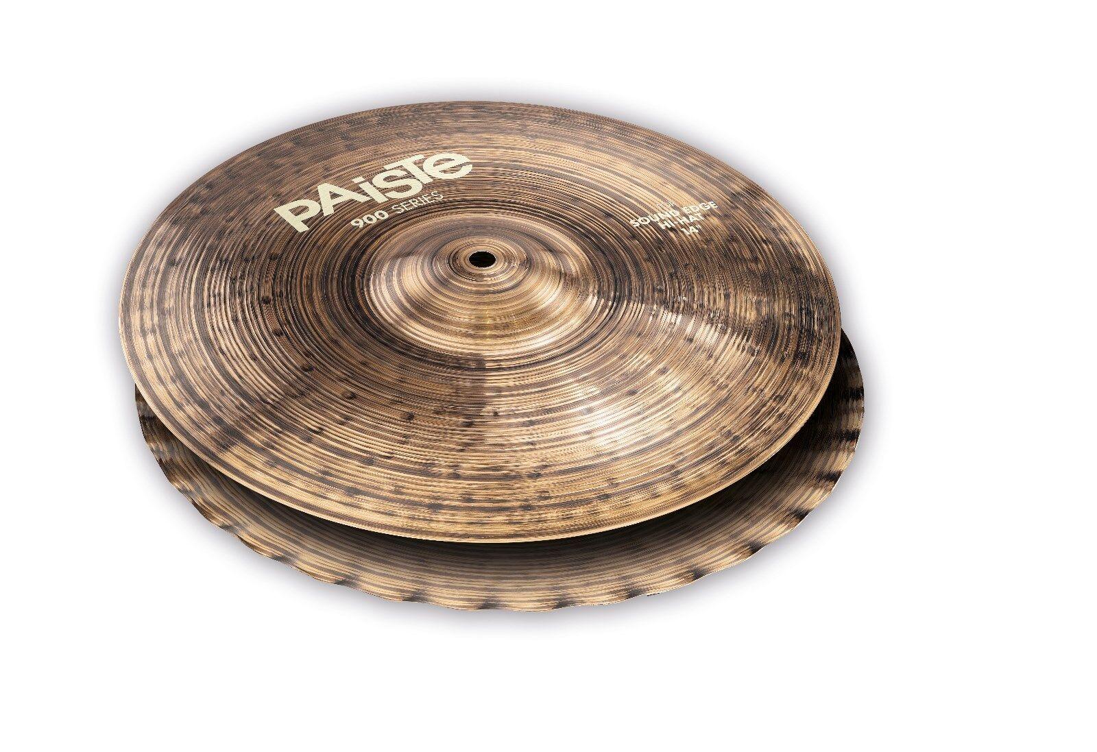 Paiste Farbe Sound 900 14  Sound Edge Hi Hat Cymbals Free Stick Bag-Sticks