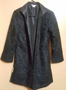 Grace-Chuang-Inc-Long-Open-Lace-Jacket-in-Black-size-Medium