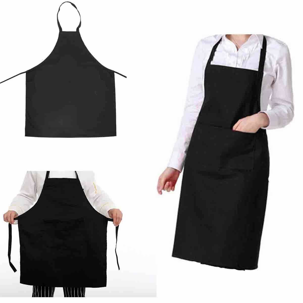 Details About Chef Apron Catering Cooking Kitchen Butcher Unisex With Pocket