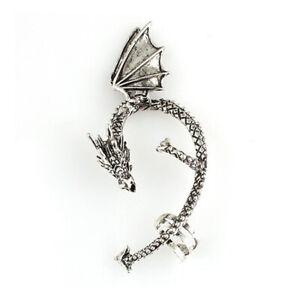 Dragon Ear Stud Cuff Clips Wrap Lure Gothic Punk Gift No Ear Hole Earring
