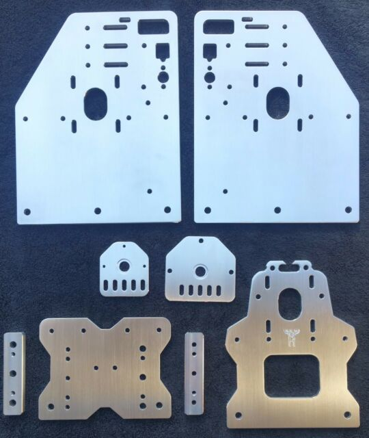 Gantry Plates, Rod Plates and 3W Spacers for the OX CNC (seen at Openbuilds)