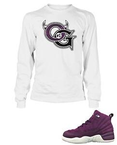 To Og Shirt 12 Shoe Mens Bordeaux White Air Match Sleeve Tee Jordan Long HqEwrqxSf