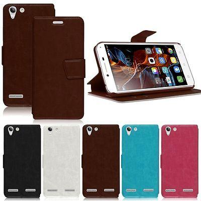 Magnetic Flip Leather Wallet Slim Case Cover Skin Stand For Lenovo Vibe K5