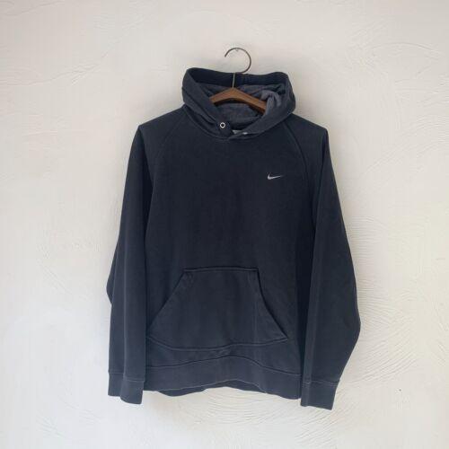 00s Nike Silver Tag Label Hoodie Black Sweatshirt