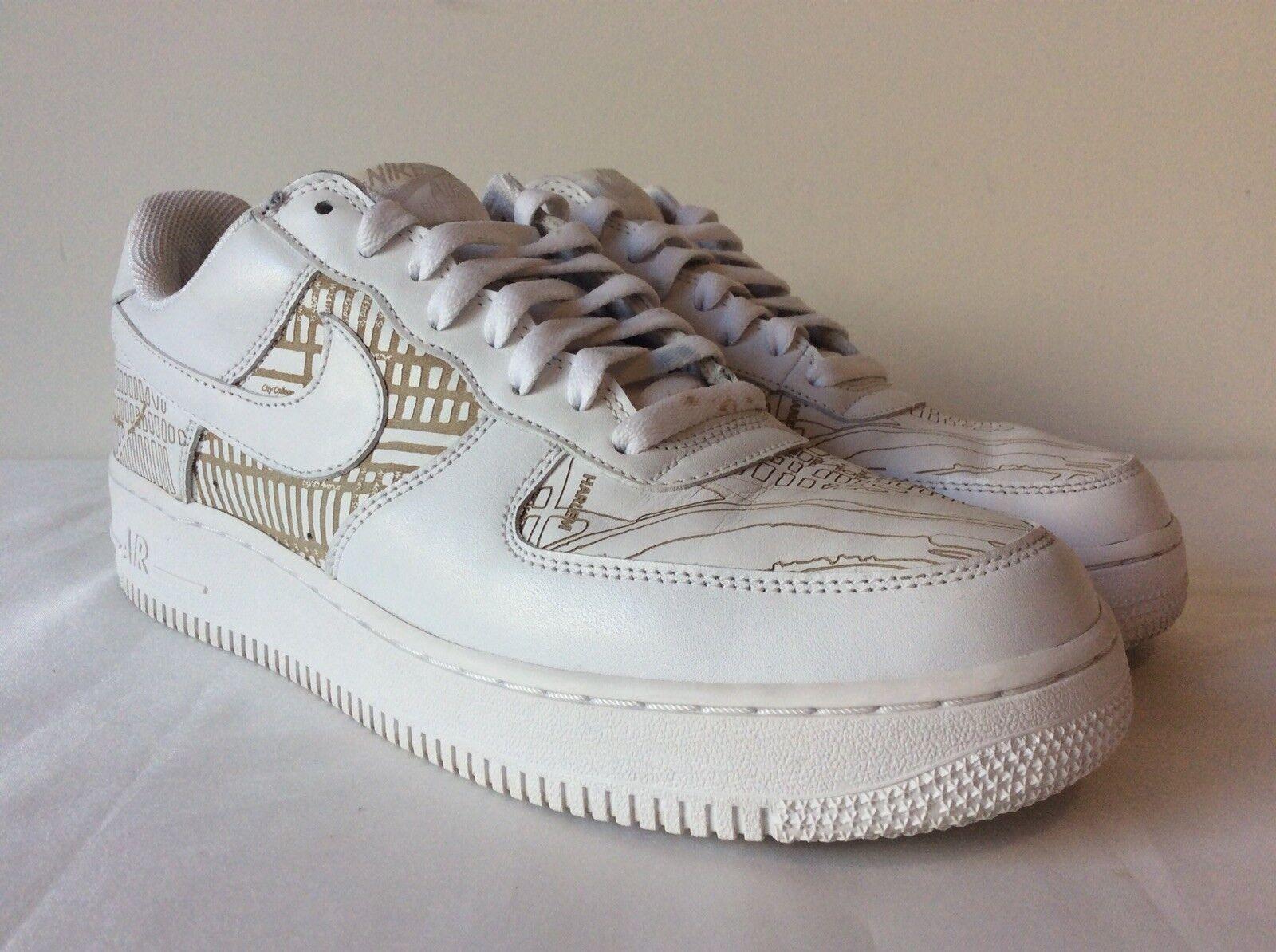 Nike Air Force 1 Low Premium Harlem Laser 2005 White 309096 111 Mens Sz 9.5