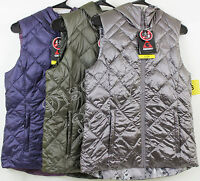 Women's Gerry Reverisble Hooded Packable Down Vest S M Xl Xxl Variety