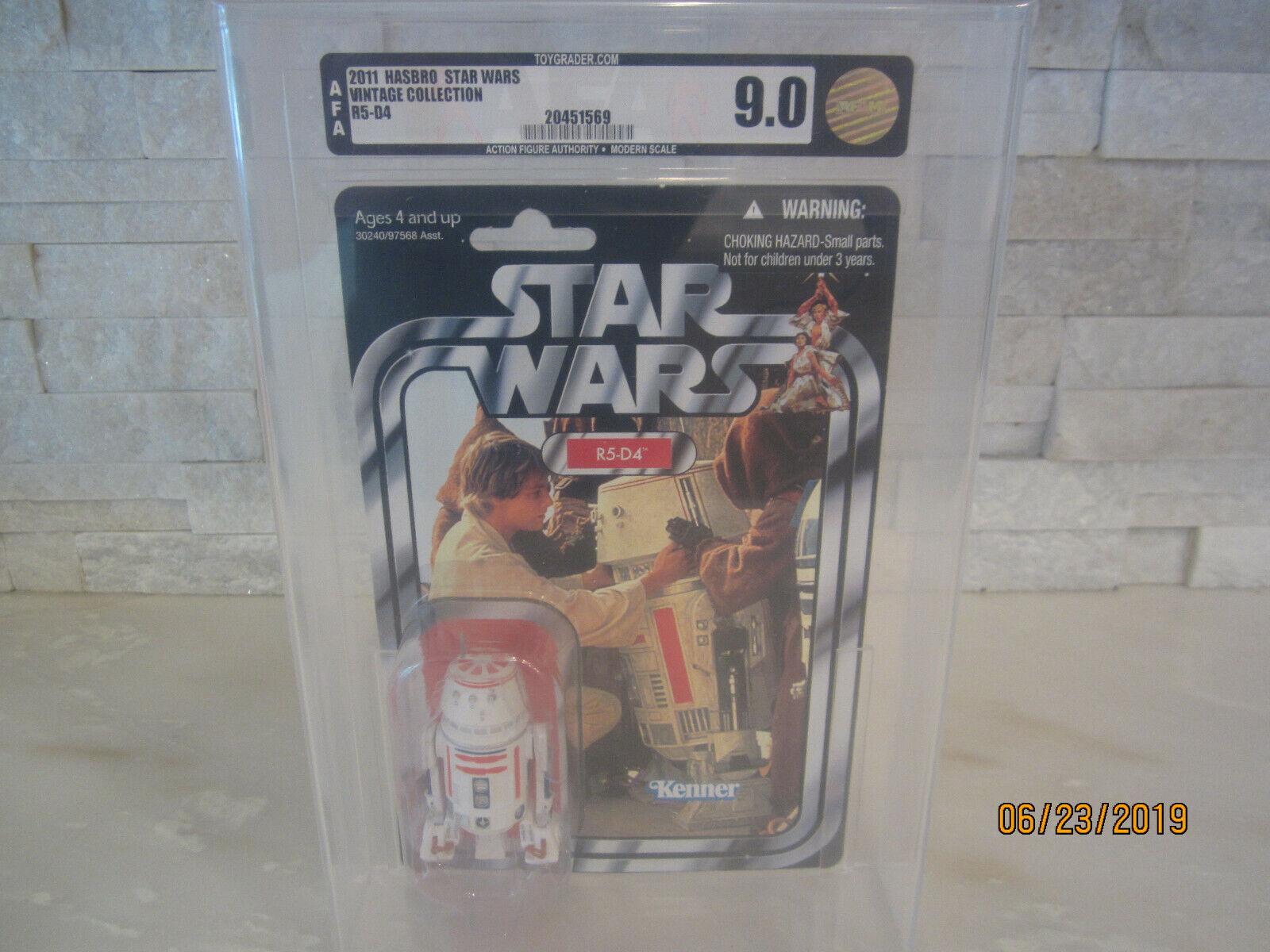 2011 STAR WARS VC40 R5-D4 AFA GRADED 9.0