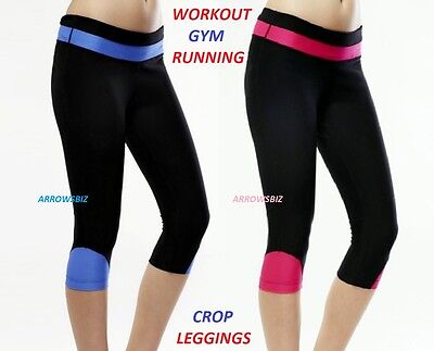 Workout Fitness Performance Gym Running Cycling Sports Crop Legging Trousers