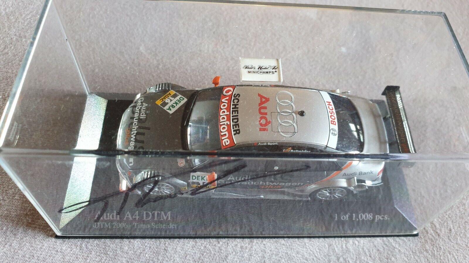 Audi A 4 DTM 2006 T. Scheider  16 Team Rosberg 1 43 Minichamps Original Signiert