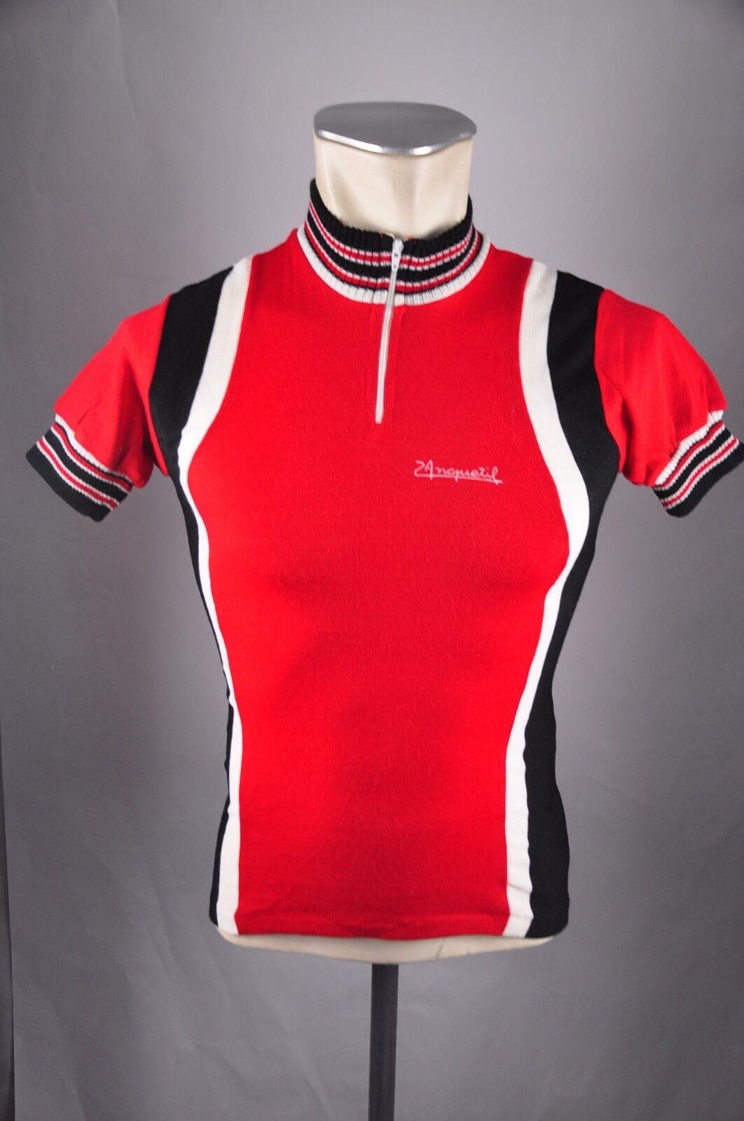 80er Rad Trikot Jersey Wolle Gr. XS BW 39cm Bike cycling wool Shirt WO2