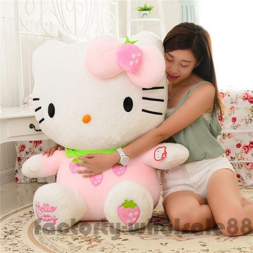 39/'/' Giant Big Cat Stuffed Animal Plush Soft Toys Doll Cushion Kid Birthday Gift