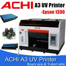 A3 Uv Printer Epson1390 For Flatbed Cylindrical Glass Metal 3d Rotation Embossed