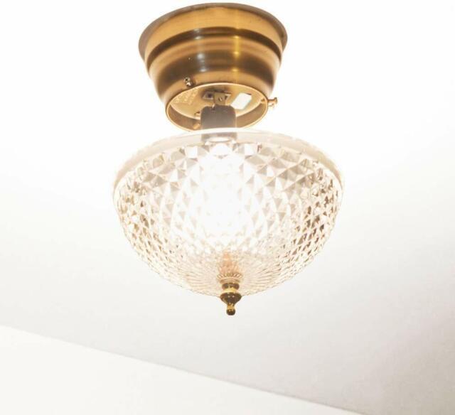 Vintage Ceiling Glass Lamp Shade For Sale Online Ebay