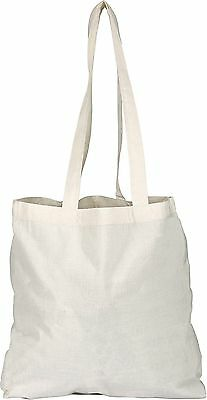 5 TOTE SHOPPER NATURAL 100% COTTON SHOPPING TOTE BAGS