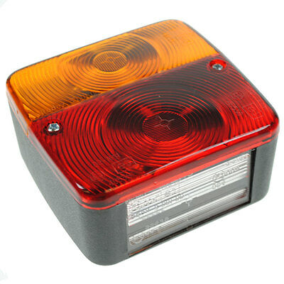 12V VOLT TRAILER CARAVAN REAR SQUARE 4 FUNCTION TAIL LIGHTS BOARD
