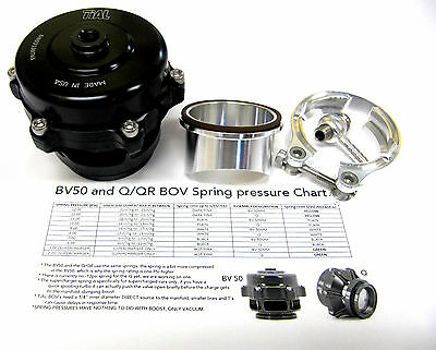 Tial Q Blow Off Valve BOV 50MM with Flange Black