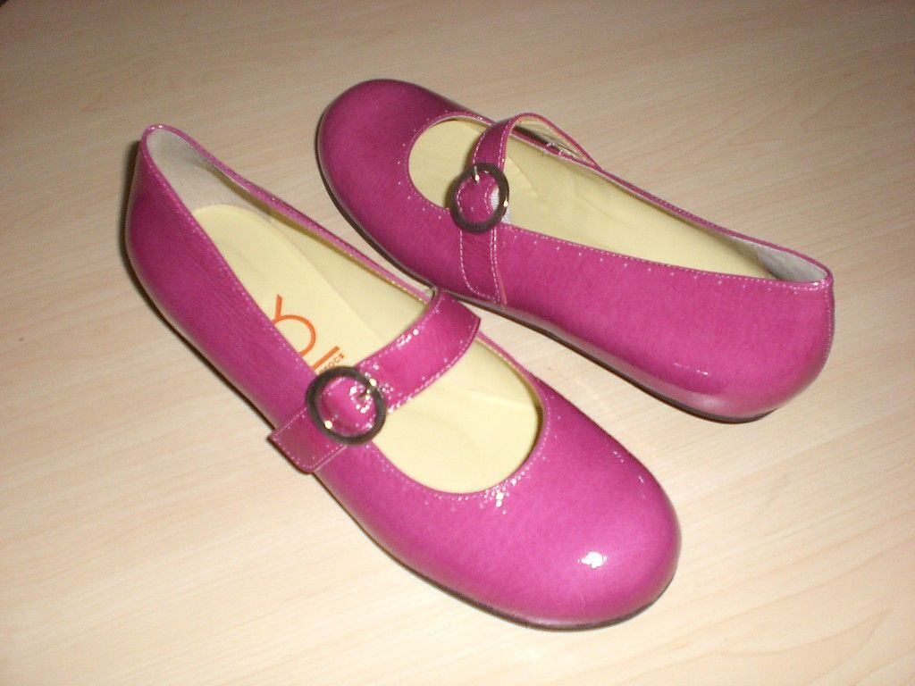 Crocs You by Crocs MJ flats pink pat Leder 6.5 Md NEU