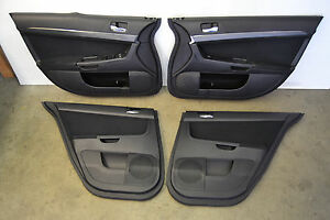 Image is loading Mitsubishi-Evo-X-Door-Panels-Cards-Doorcards-Trim- & Mitsubishi Evo X Door Panels Cards Doorcards Trim Evolution 10 Oem ...