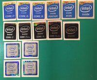 10x Intel Core I7/i5/i3/pentium/xeon Inside Sticker 4th/6th/7th Gen Black Badge