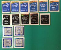 10x Intel Core I7/i5/i3/pentium/xeon Inside Sticker 4th/6th/7th Gen Black Badge