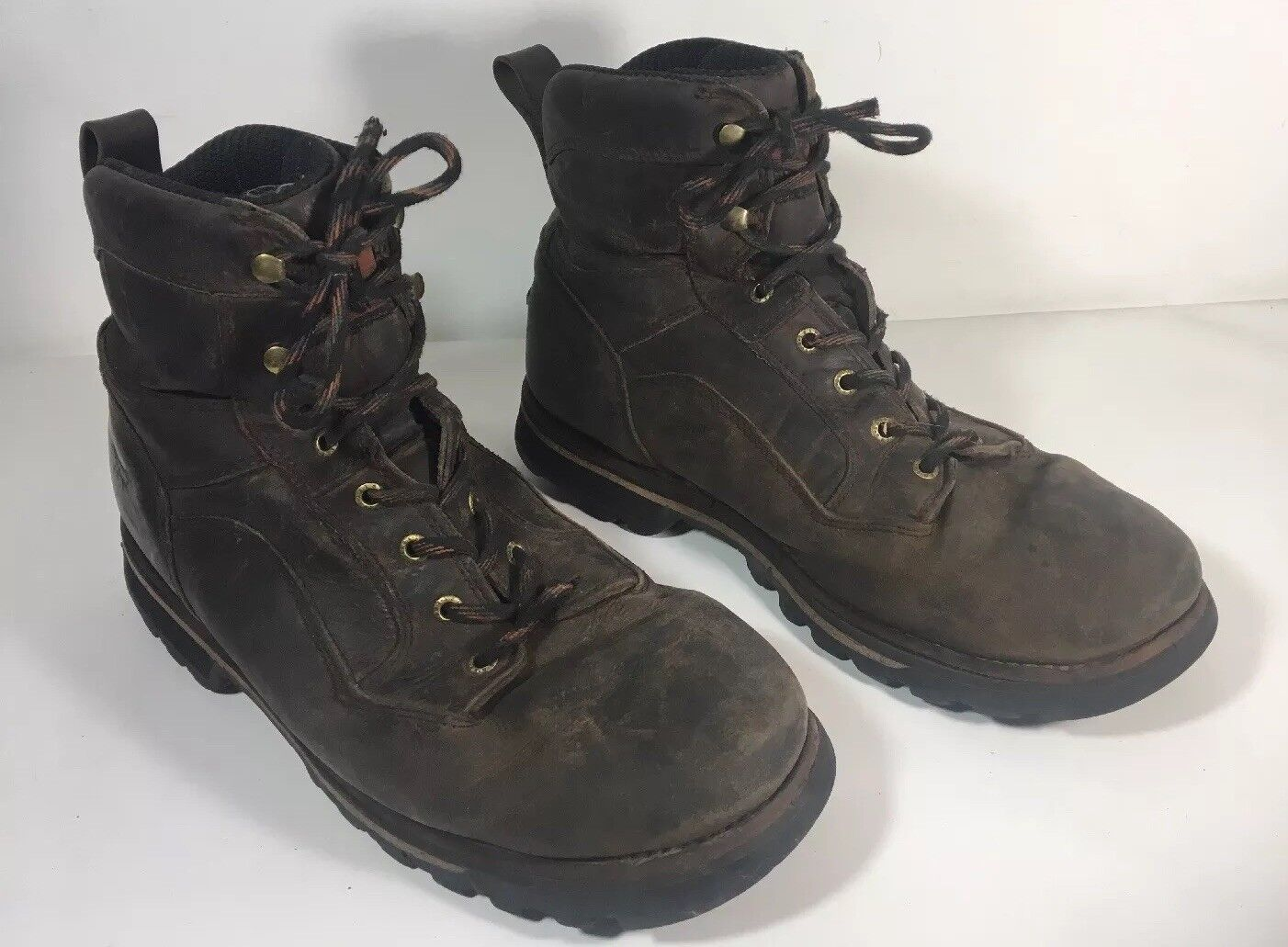 "rot Wing Irish Setter 8"" Work Stiefel Größe 12 Vtg Leather Reg Toe"