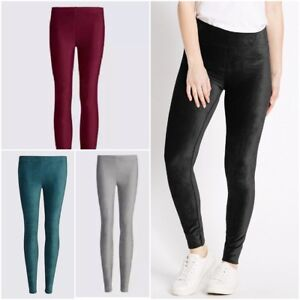 wide selection of designs unequal in performance factory price Details about Ex M&S Soft Cord Leggings BLACK GREY BERRY TEAL L 25