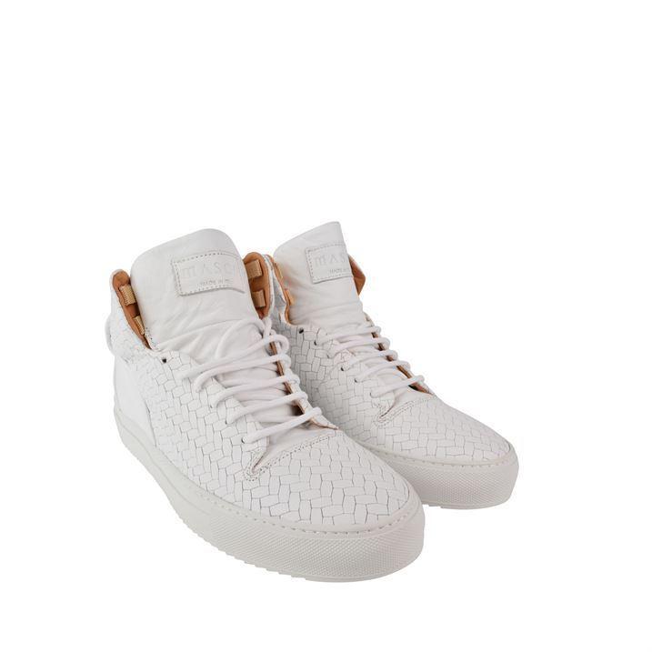 NEW Mason Garments PALOMA MID CERVO BIANCO SOLES WHITE  trainers shoes BNIB