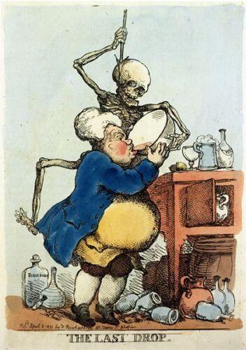 Vintage 18th Century The Last Drop British Satire Poster A3//A2//A1 Print