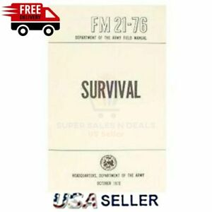 SURVIVAL FEILD Manual Hand Book Guide FM 21-76 Rothco 1402 US Army Military NEW