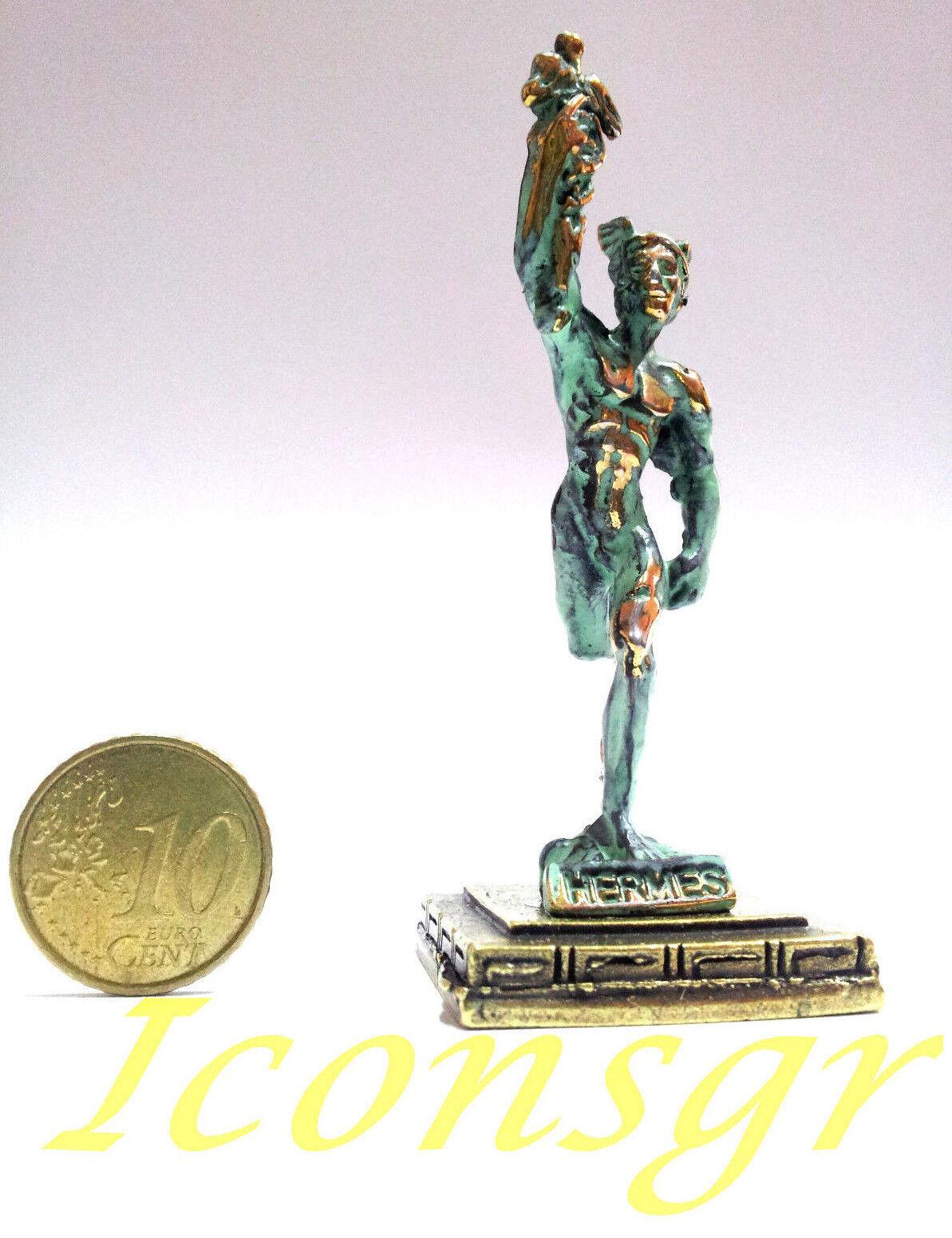 Statue Hermes Messenger God Olympian God Ancient Miniature Sculpture Zamac