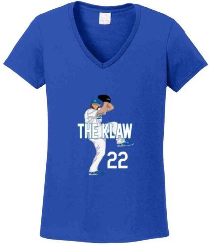 "V-NECK Ladies Clayton Kershaw Los Angeles Dodgers /""KLAW/"" jersey shirt Ladies"