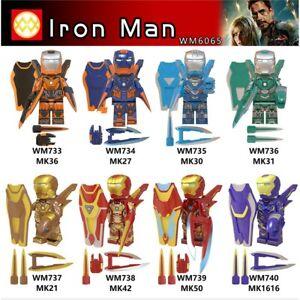 Minifigure lego MOC Marvel DC NEW Batman Robin Iron Man GodSpeed Black widow