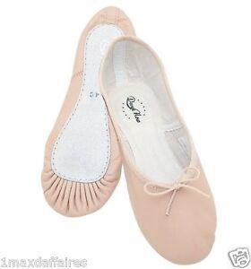 Chausson Danse danse now dn960g ballet cuir ballerine fille plat neuf chausson
