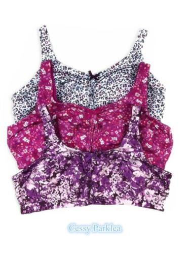 """/""""Comfort Choice/""""100/% Cotton Floral Print Wire-Free Full Coverage Bras Plus Size"""
